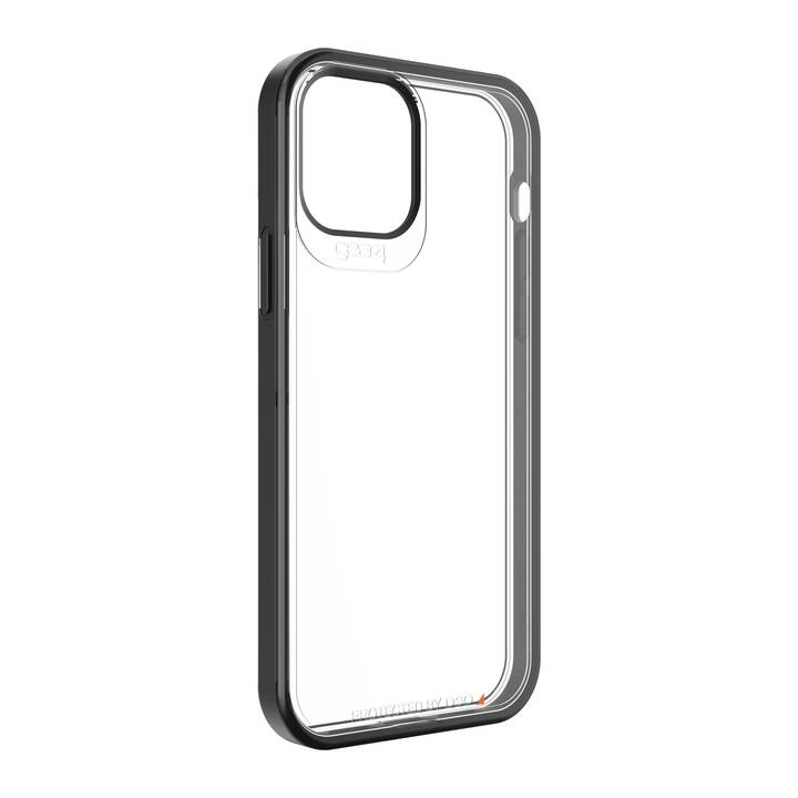 GEAR4 Backcover Hackney 5G (iPhone 12, iPhone 12 Pro, Antibatterico, Transparente, Nero)