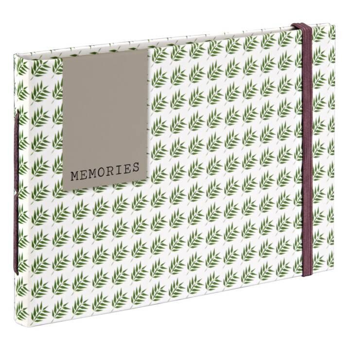 "Album photo HAMA ""Fern"", 18 x 13 cm, brun, vert, blanc, 20 pages"