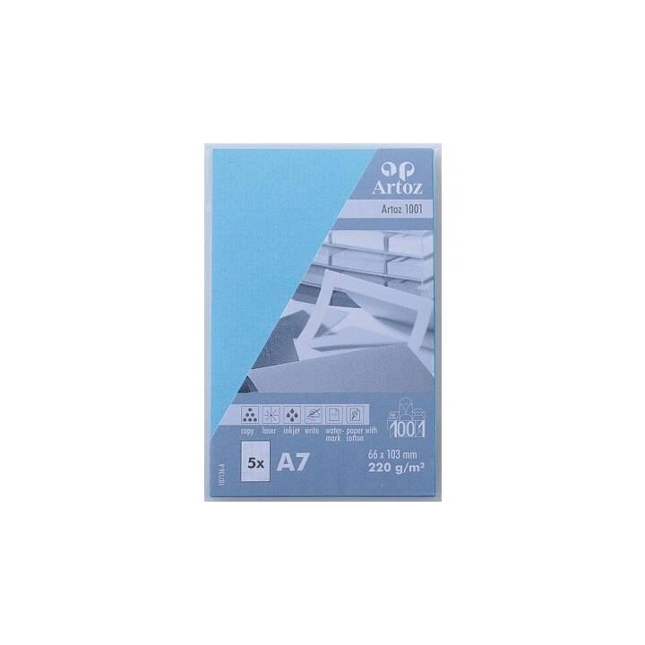 Cartes de visite ARTOZ 1001 A7 Azur - 5 pièces