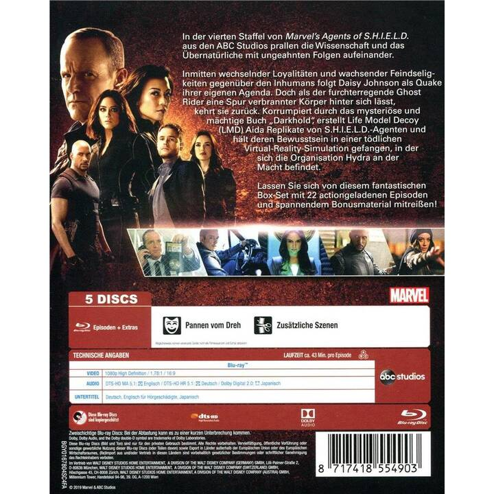 Agents of S.H.I.E.L.D. Saison 4 (EN, DE, JA)
