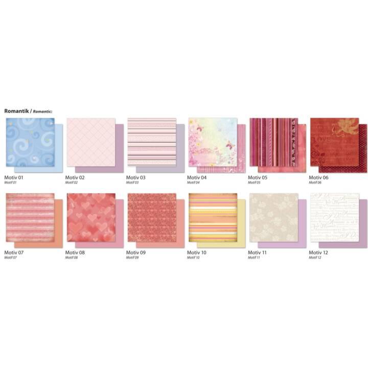 FOLIA Designpapier Romantik 30.5 x 30.5 cm