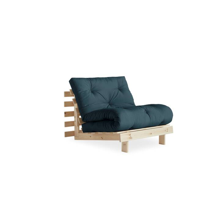 KARUP DESIGN Roots 90 Bettsofa (Polyester, Petrol, Beige, 90 cm x 105 cm)