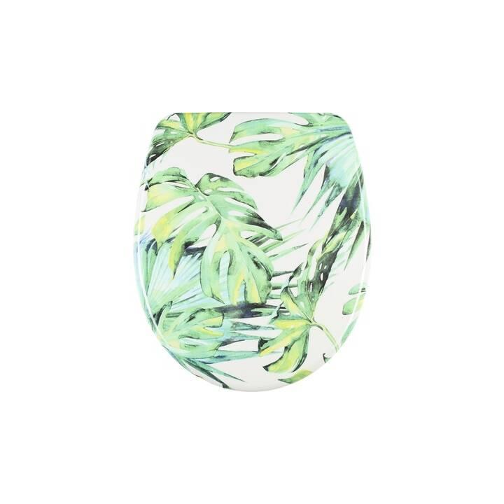 DIAQUA Sedile per WC Nice Slow Down Greenery (Verde, Bianco)