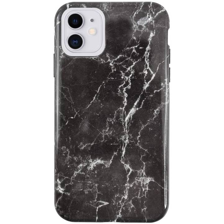 UUNIQUE Backcover Eco Friendly Printed Black Marble (iPhone 11, Nero, Bianco)