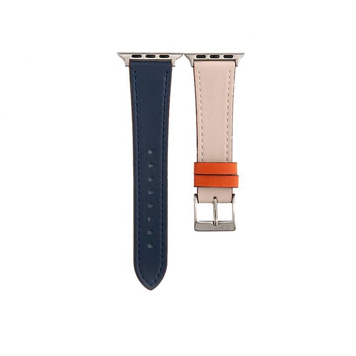 EG MTT cinturino per Apple Watch 42 mm / 44 mm - blu navy e beige