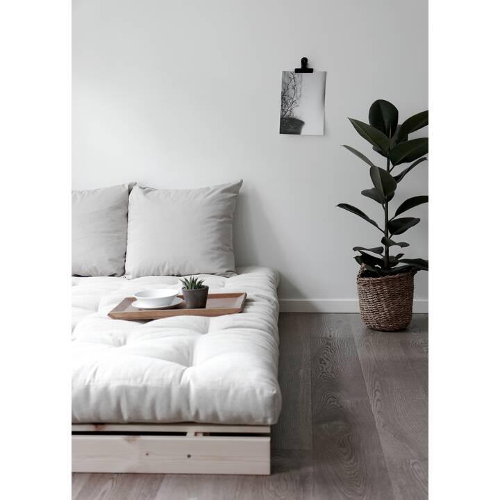 KARUP DESIGN Roots 140 Canapé-lit (Polyester, Gris foncé, 140 cm x 105 cm)