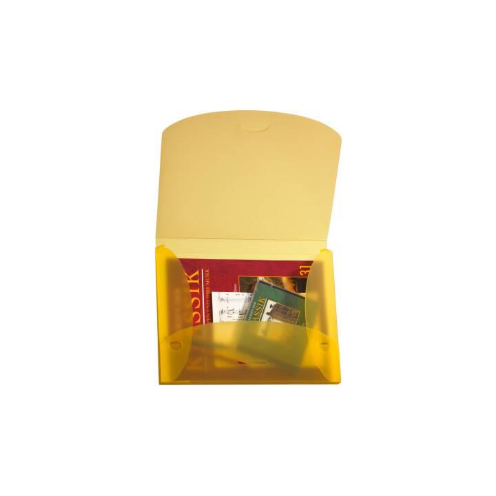 Scatola di raccolta KOLMA RACER Penda Easy 2,5 cm A4 giallo