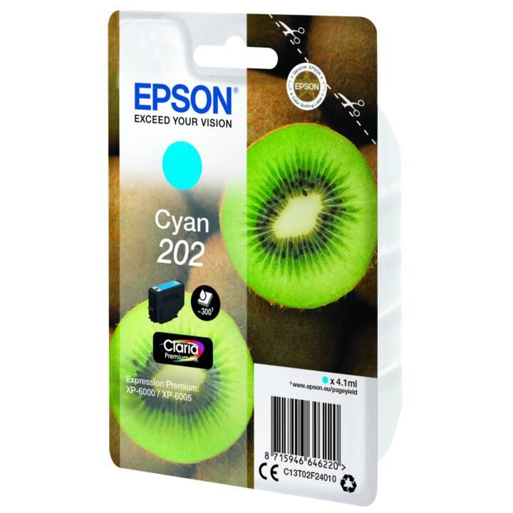 EPSON cartouche simple 202 Cyan