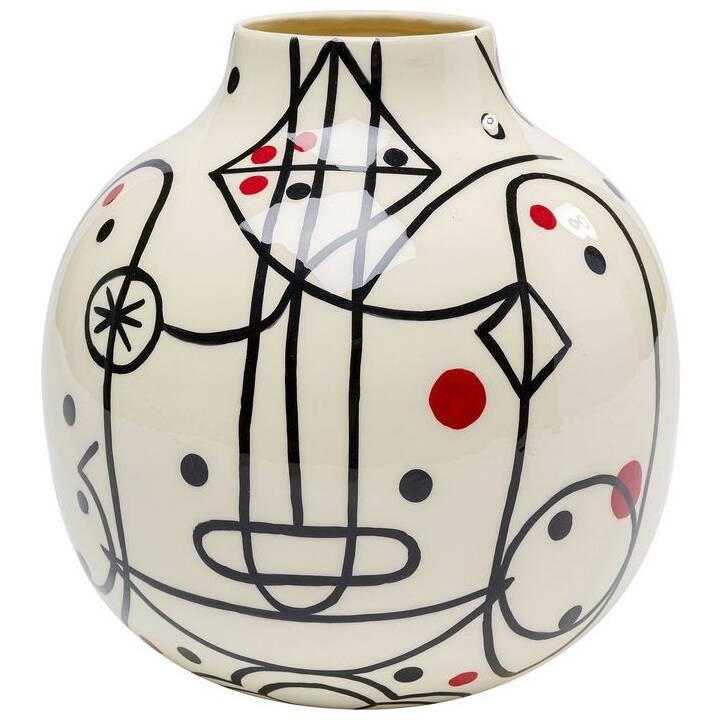 KARE Vase Abstract (18 cm x 23 cm, Mehrfarbig)