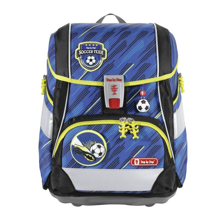 STEP BY STEP Cartable PLUS Soccer Team (19 l, Bleu, Noir, Vert)