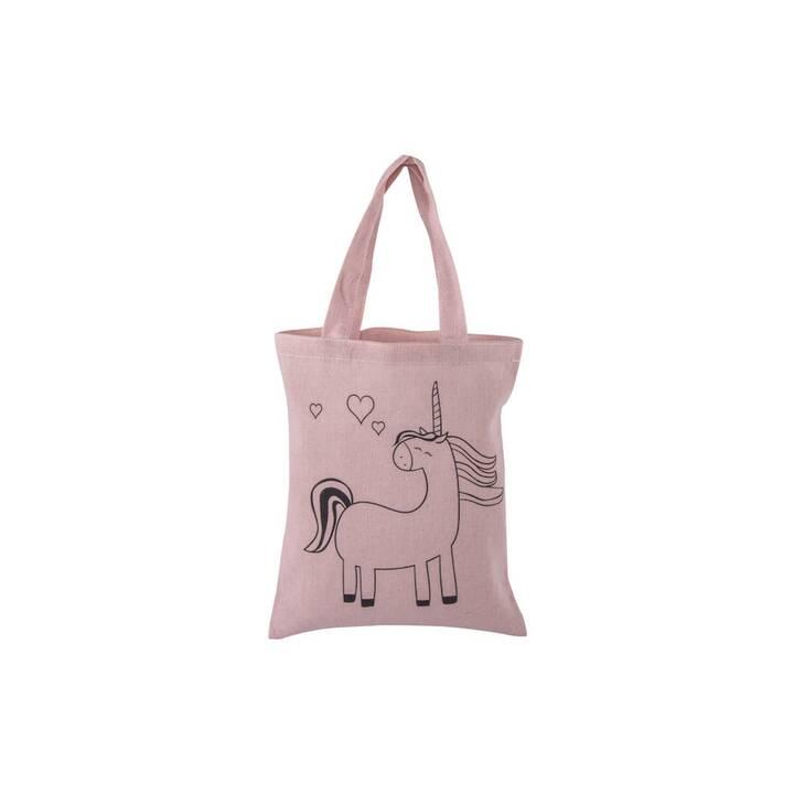 RAYHER Shopper unicorno (Poliestere, Cotone, Rosa)