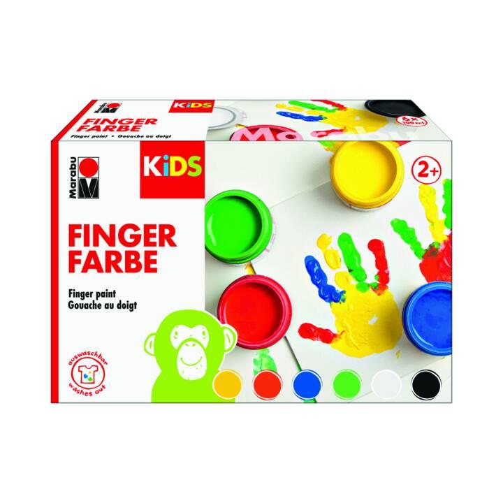 MARABU Kids Fingerfarben 6 Farben
