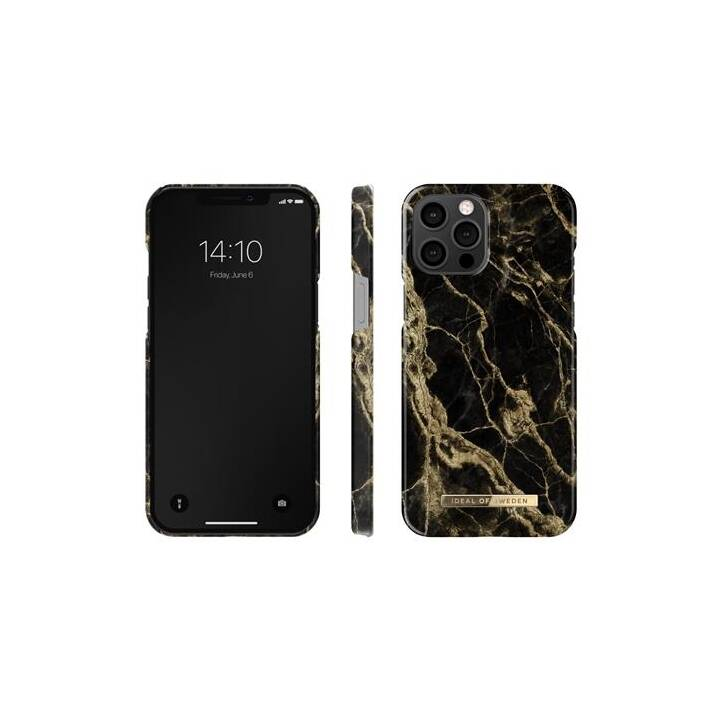 IDEAL OF SWEDEN Backcover Marble (iPhone 12 Pro Max, Nero, Oro)