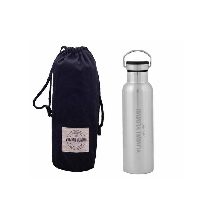 SORRISO Thermo Trinkflasche Yummii  (600 ml, Silber, Schwarz)
