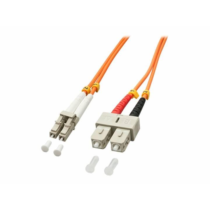 LINDY 46991 Câble réseau (LC Multi-Mode duplex, SC-Duplex, 2 m)