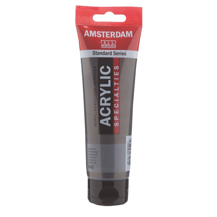 AMSTERDAM Acrylique couleur 840 (120 ml, Noir graphite)