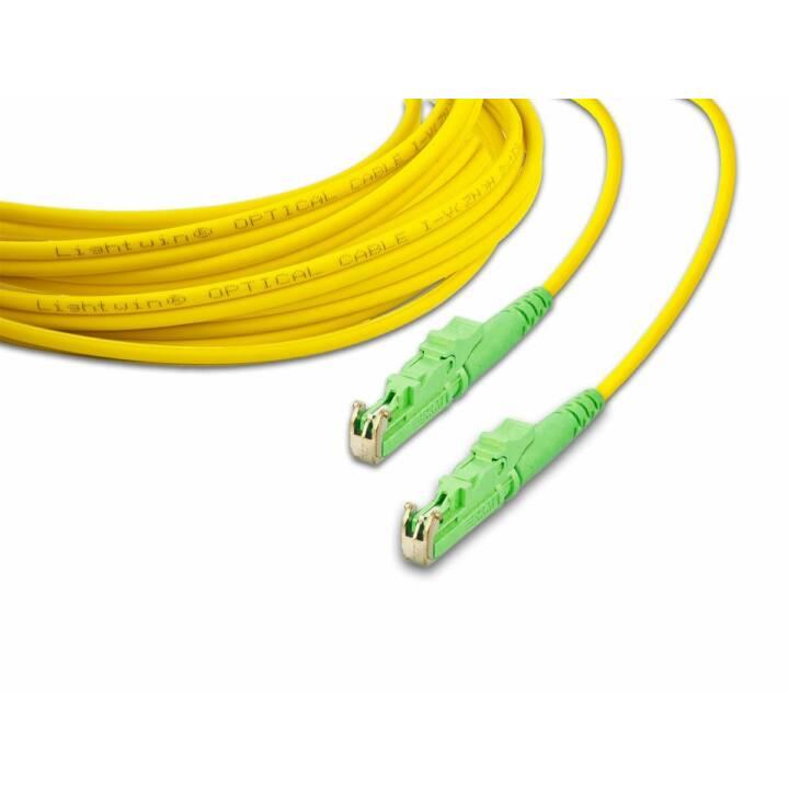 LIGHTWIN LSP-09 E2/APC-E2/APC 2.0 2m E-2000 (APC) E-2000 (APC) Gelb, Grün Glasfaserkabel