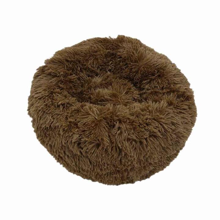 EG cuscino rotondo antiscivolo (50 cm) - animale domestico inferiore a 5 kg - marrone