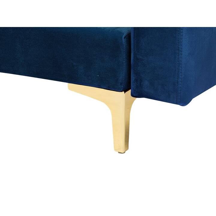 BELIANI Aberdeen Ecksofa (Polyester, Samt, Marina, 267 cm x 169 cm)