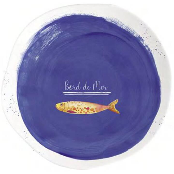 EASY LIFE Assiettes à déjeuner et à dessert Bord de Mer (21 cm, 1 Pièce)