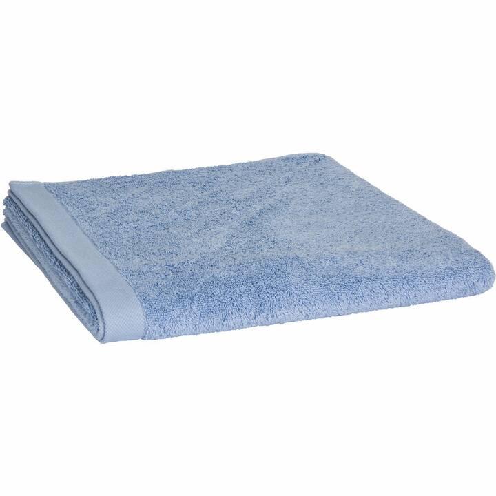 LIVIQUE Serviette de bain Diana (70 cm x 140 cm, Bleu)