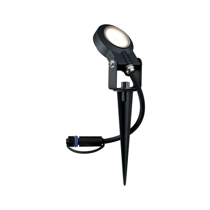 PAULMANN Plug & Shine Sting 100° Projecteur extérieur (LED incorporé, 6 W, Noir)