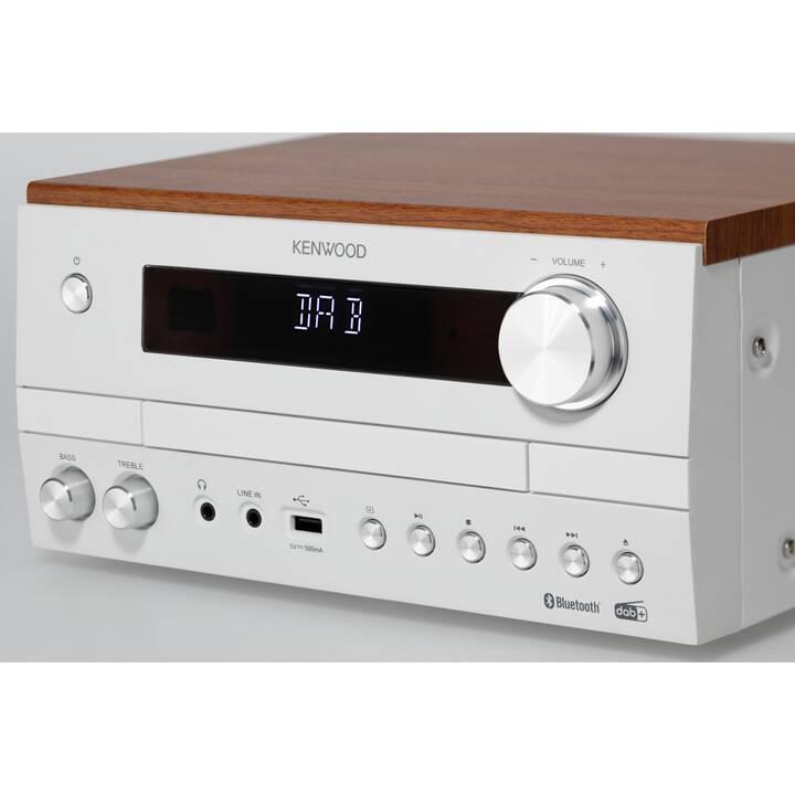 KENWOOD M-820DAB (Blanc, Brun, Bluetooth 2.1, Bluetooth, CD, Radios)
