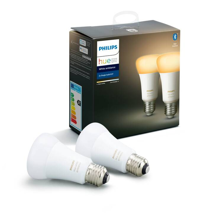 PHILIPS Lampadina LED Hue White Ambiance (E27, ZigBee, Bluetooth, 8.5 W)