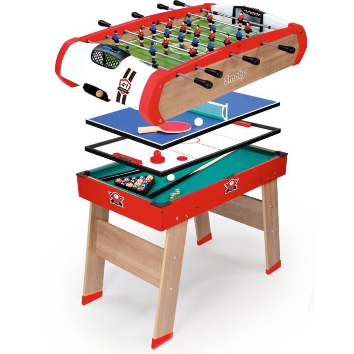 SMOBY INTERACTIVE Powerplay 4-in-1 Table calciobalilla (Legno)
