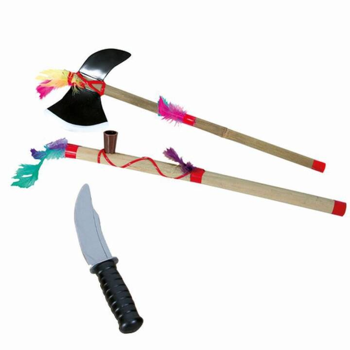 MAX BERSINGER Indianerset Bambus Spielzeugwaffe, 3-teilig