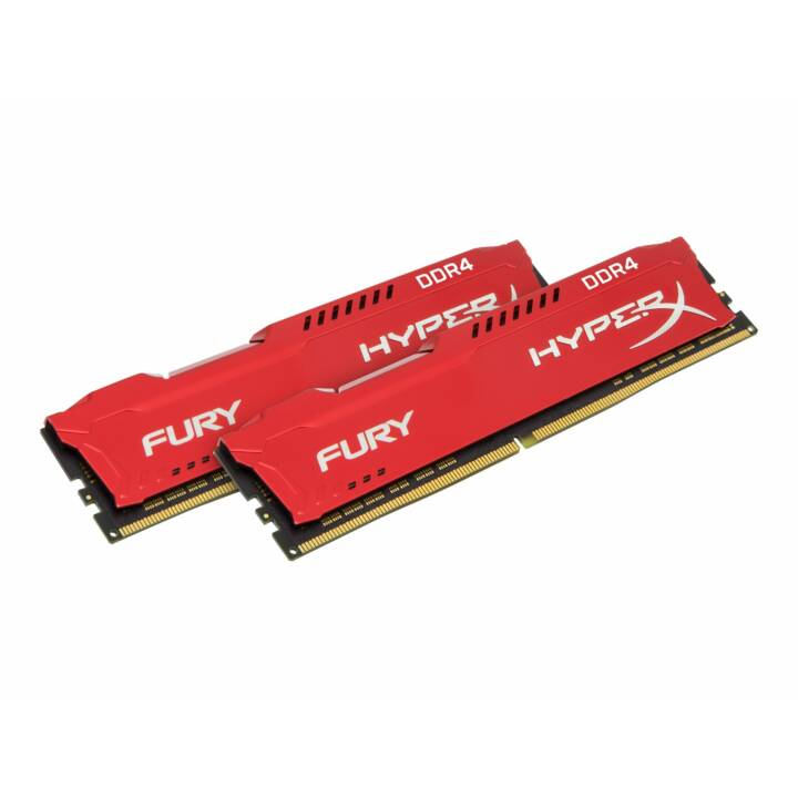 HYPERX Fury Red (2 x 16 GB, DDR4-SDRAM, DIMM 288-Pin)