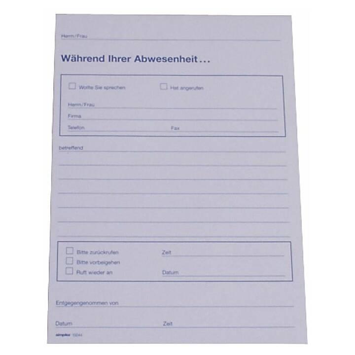 SIMPLEX Notepad A5 70 foglio, durante la vostra assenza