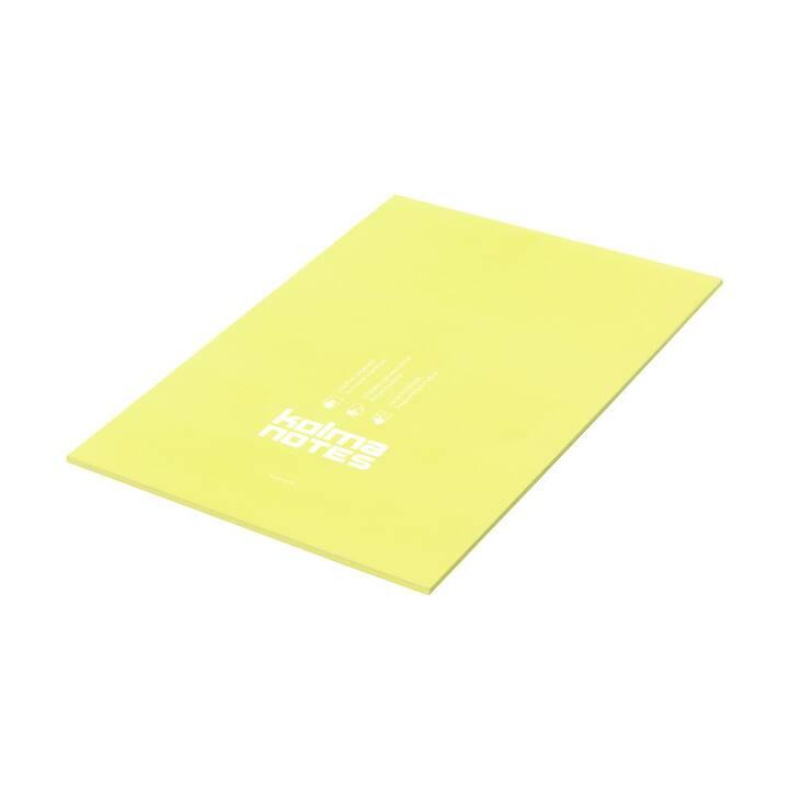 KOLMA NOTES A4 1x50 feuille jaune