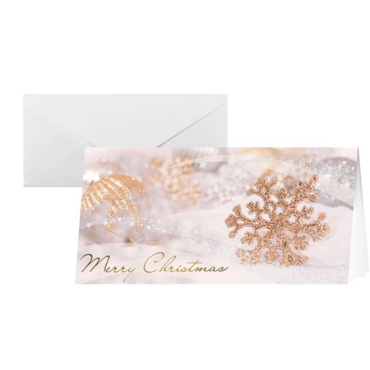 SIGEL Cartolina di Natale Passion Set (A6, Oro, Argento)