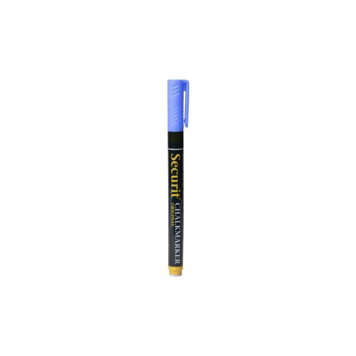 SECURIT Marqueur craie 1-2mm (Bleu, 1 pièce)