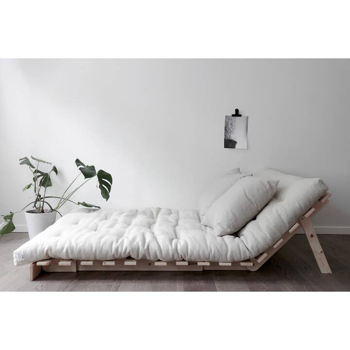 KARUP DESIGN Roots 140 Bettsofa (Polyester, Baumwolle, Hellgrau, 140 cm x 108 cm)