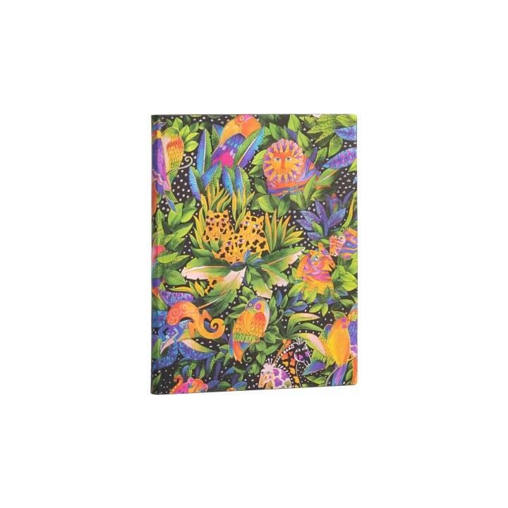 PAPERBLANKS Carnets Flexis Jungle (17.5 cm x 22.5 cm, En blanc)