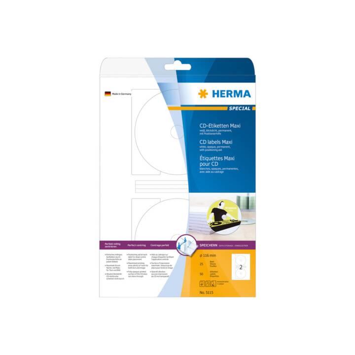 HERMA CD-Etiketten Maxi A4 Ø 116 mm