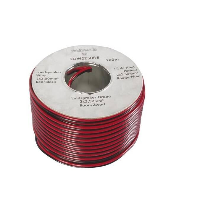 VELLEMAN LOW2250RB Kabel-Meterware (100 m)