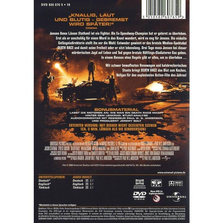 Death Race  Extended Edition (DE, TR, EN)