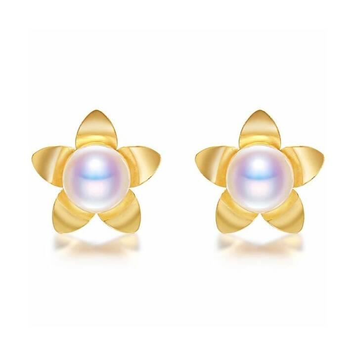 MUAU Clous d'oreilles (Perle, 5 mm)