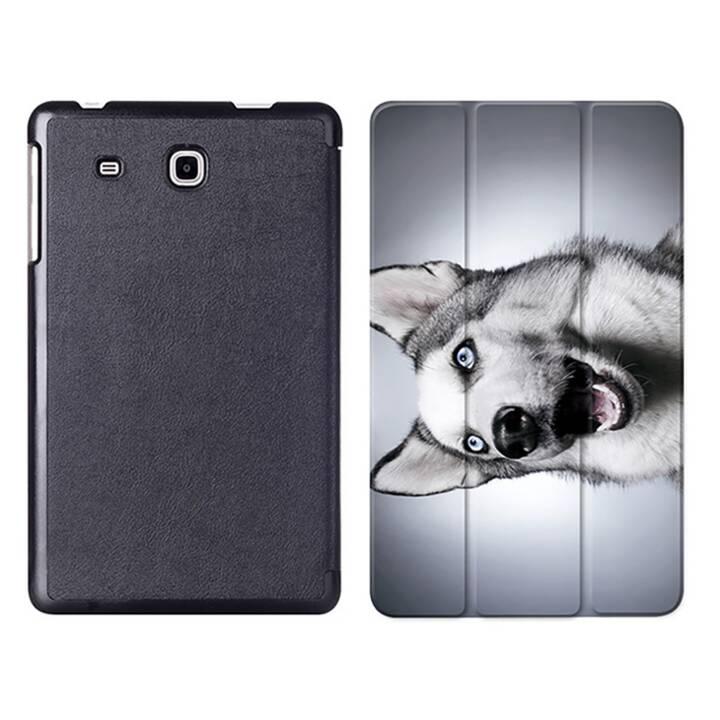 """EG MTT Tablet Tasche mit Smart faltbare Abdeckung für Samsung Galaxy Tab A A6 7 """"- Hund"""