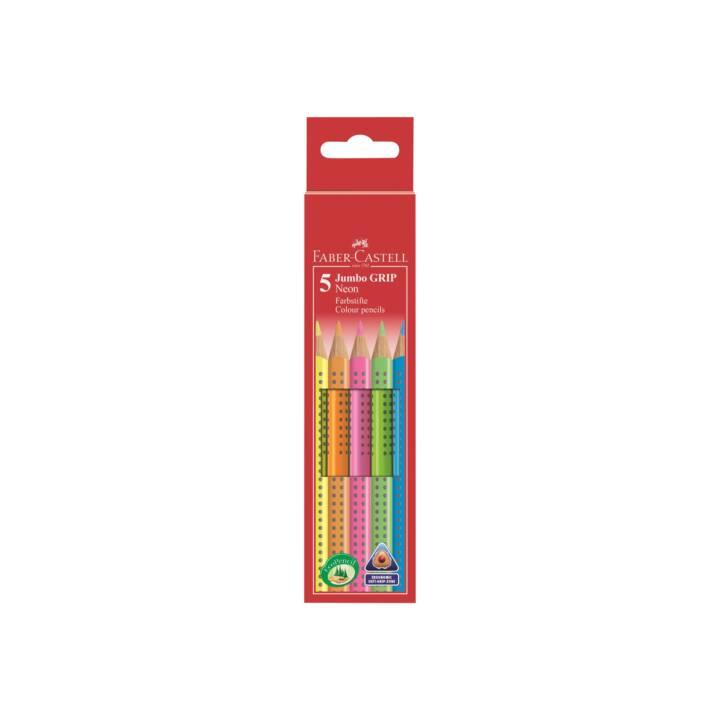FABER-CASTELL Jumbo GRIP Crayon(s) de couleur 5 pièce(s)