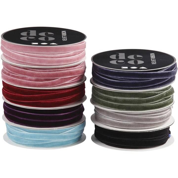 CREATIV COMPANY Ruban textile (Multicolore, 6 mm x 1000 cm)