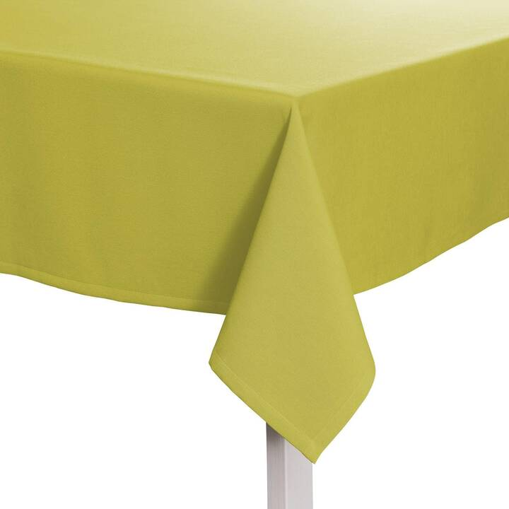 PICHLER Tischtuch Como Pistazie (135 cm x 220 cm, Rechteckig, Grün)