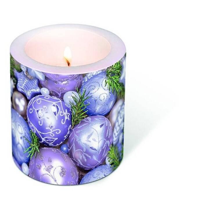 PAPER + DESIGN Weihnachtskerze Purple baubles Lila Violett