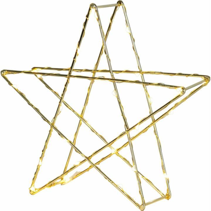 STAR TRADING Weihnachtssterne (25 cm, Gold)