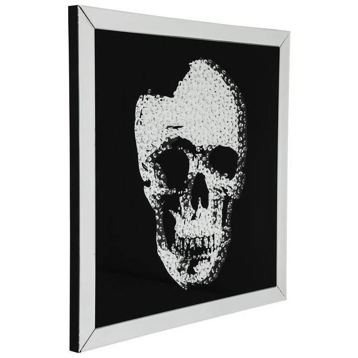 KARE Bild mit Rahmen Mirror Skull (Schwarz, Weiss)