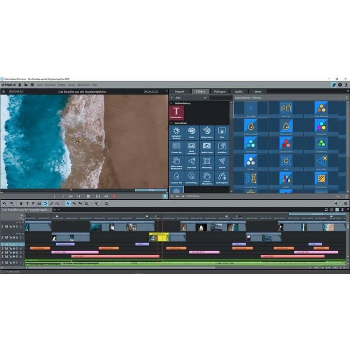 MAGIX ENTERTAINMENT Video deluxe Premium 2020 (Version complète, Français, Italien)
