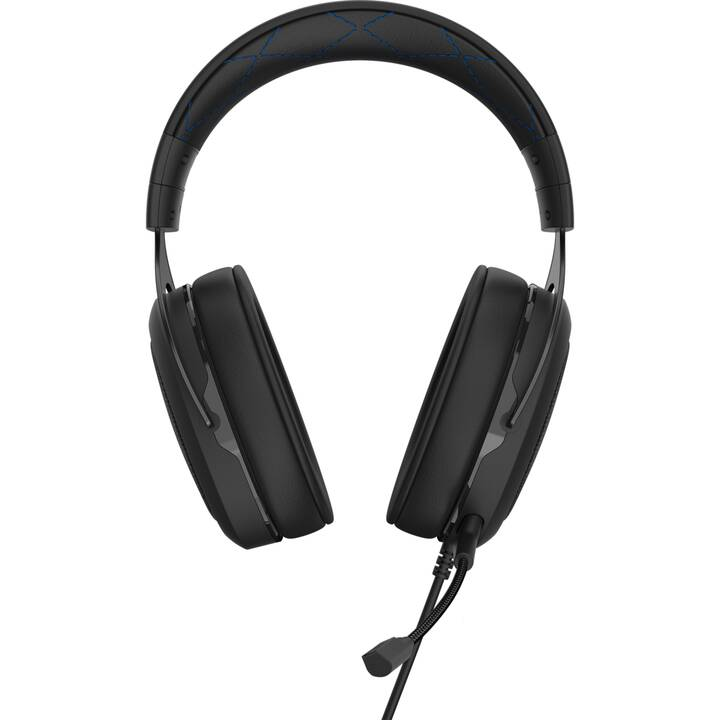 CORSAIR HS50 Pro Stereo (Over-Ear, Blu, Nero)